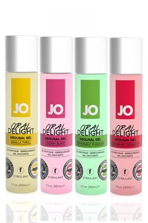 Gel stimulant Jo Oral Delight - 30 ml : Gel érotique stimulant avec effet rafraichissant, idéal pour le plaisir oral et les préliminaires.