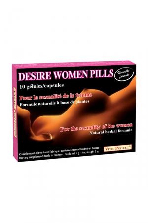 Desire Women Pills (10 gélules) : Complément alimentaire permettant de stimuler le désir et exalter le plaisir féminin. Formule naturelle nouvelle génération.