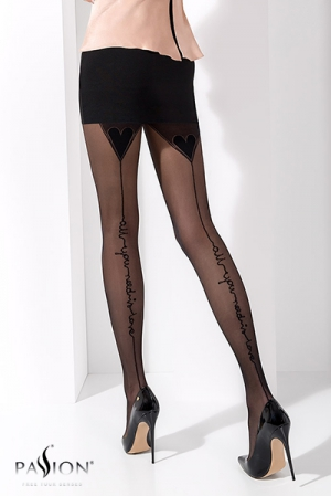Collants couture fantaisie TI023 : Collants fantaisie en lycra 20 deniers, avec une couture à message : all you need is love.