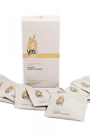 Toilette intime au miel mono-doses : Boite de 10 sachets monodoses au miel pour votre hygiène intime au quotidien.