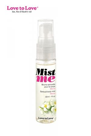 Brume corporelle Mist Me - Love to Love : Une brume sensuelle à appliquer sur le corps ou à utiliser comme parfum d'ambiance.