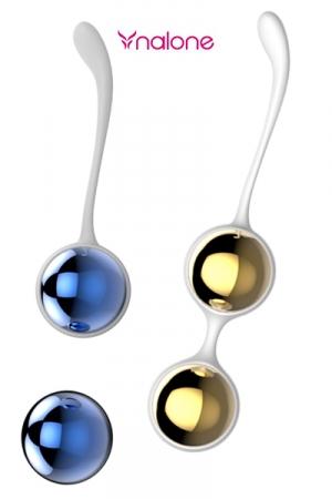Sphères de Kegel Yany : Boules  de Geisha Luxe en métal, pour le plaisir des sens ou la musculation de la région pelvienne.