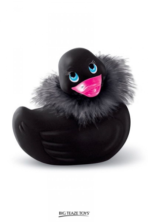 Canard My Duckie Paris Travel - noir : Le célèbre canard vibrant en version glamour et sexy de voyage! (coloris noir)