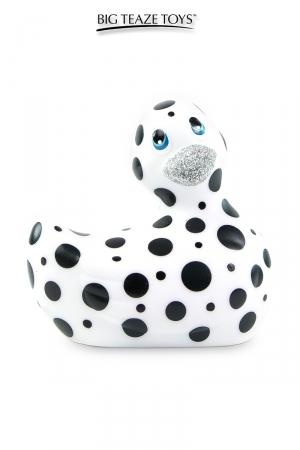 Mini canard vibrant Happiness blanc : Déclinaison blanche et noire du célèbre canard vibrant dans la collection Happiness.  I Rub My Duckie est désormais en version 2.0.