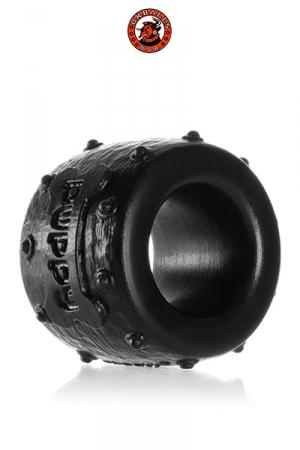 Pup-Balls BallStretcher - Oxballs : Un ballstretcher super doux et malléable, 100% silicone pure platinum, ressemblant à un petit collier clouté.