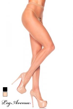 Collants ouverts Basic : Collants voile avec ouverture intime à l'entre-jambes.