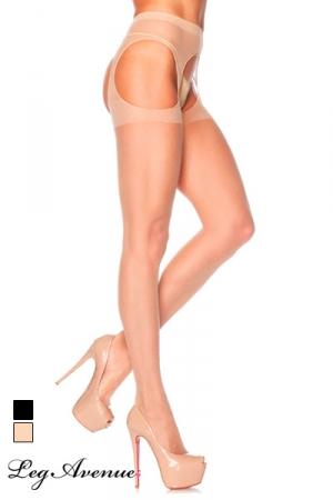 Collants ouverts Skin : Paire de collants voile ouverts sur le sexe et les hanches.