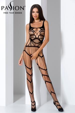 Combinaison BS058 - Noir : Combinaison sexy noire au style original et très provocant.
