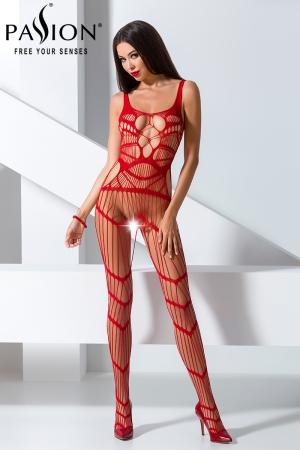 Combinaison BS058 - Rouge : Combinaison sexy rouge au style original et très provocant.