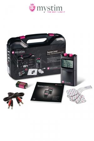 Malette électro-stimulation Tension Lover 7 fonctions - Mystim : Malette luxe Mystim, l'électro-stimulation de nouvelle génération.