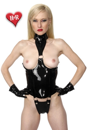 Body Topless latex : Body seins nus en latex haute qualité, un pur objet de domination.