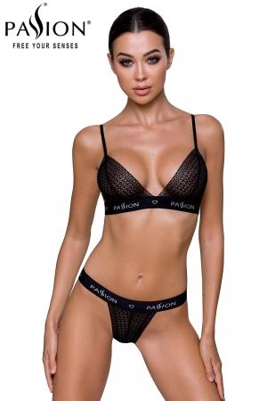 Ensemble lingerie Glamis - Noir : Ensemble lingerie brassière et string, le style casual sexy au féminin.