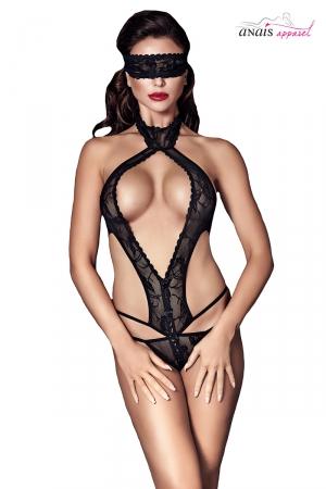Body noir Alexandra - Anaïs : Superbe body très ajouré fabriqué en Europe par la marque Anaïs Lingerie.