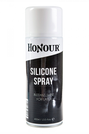 Spray shinner silicone latex : Un spray pour faire briller instantanément votre tenue en latex.