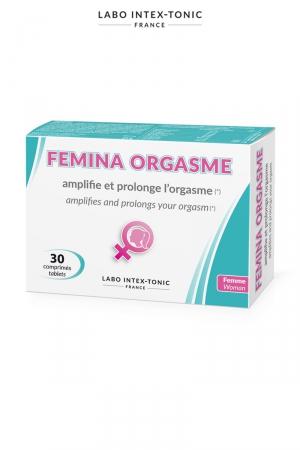 Femina Orgasme -Amplificateur d'orgasme  (30 comprimés) : Complément alimentaire à base de plantes, de vitamines et d'arginine, qui amplifie l'orgasme féminin. A consommer 1 heure avant l'acte.