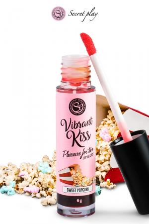 Brillant à lèvres stimulant - popcorn : Gloss stimulant goût popcorn qui fait ressentir de nouvelles sensations aux deux partenaires lors de baisers ou fellations.