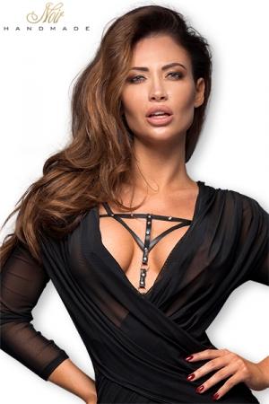 Harnais F173 faux cuir : Harnais décoratif en faux cuir fermé par des pressions chromées, un accessoire sexy qui donne tout son style à vos tenues.