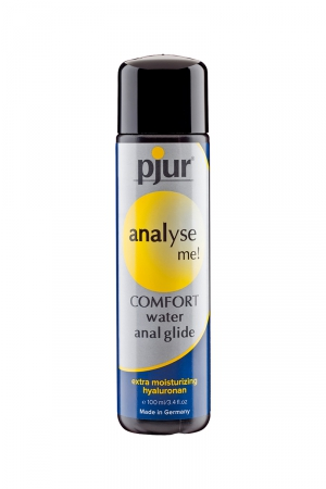 Lubrifiant anal Pjur Analyse Me 100 ml : Lubrifiant intime à base d'eau, spécial lubrification anale, offrant une lubrification intense et longue durée.