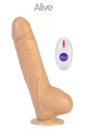 Vibromasseur réaliste Marco + télécommande : Vibro très réaliste en silicone, 19 x 4 cm, vibrant et rotatif, avec télécommande sans fil, idéal pour des sensations fortes!