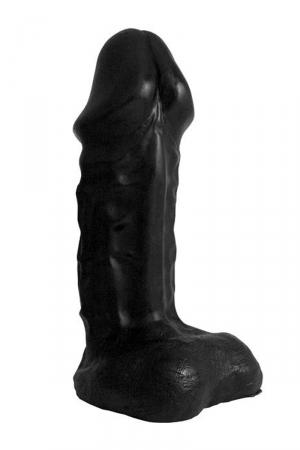 Gode XXL War Head Black : Godemichet extrême, dimensions 33 x 9 cm, de la collection Domestic Partner.