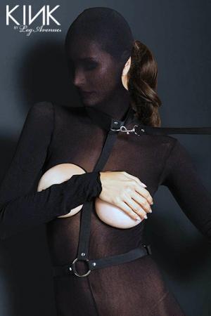 Harnais Nylon bondage : Harnais en nylon ajustable et sa laisse, pour vous emmener au bout du désir.