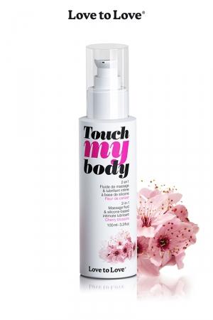 Fluide massage & lubrifiant - cerisier : A la fois un fluide de massage et un lubrifiant intime parfumé à la fleur de cerisier, par Love to Love.