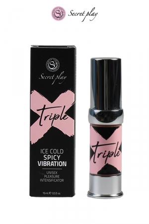 Triple X - stimulant unisex - 15ml : Gel stimulant unisex fabriqué en Espagne pour vous faire passer par plusieurs sensations en une seule utilisation.