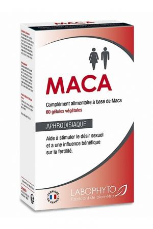 Maca Aphrodisiaque (60 gélules) : Aphrodisiaque naturel à base de Maca, pour homme et femme, stimule le désir sexuel et améliore la fertilité.