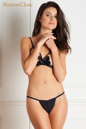 Soutien-gorge Le Petit secret : Un soutien gorge seins nus qui fait palpiter le coeur sous son magnifique noeud de satin.