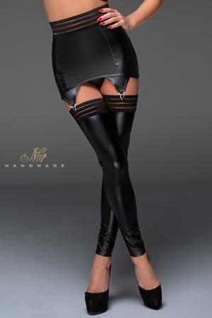 Porte jarretelles wet look F156 : Un porte-jarretelles gainant en power wetlook, avec une large bande élastique à la ceinture. Un séduisant mariage de style, glamour et moderne.