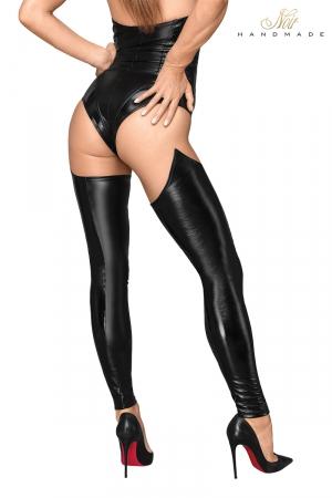 Bas faux cuir et wetlook F196 : Des bas faux cuir et wetlook qui pimentent votre look sexy.