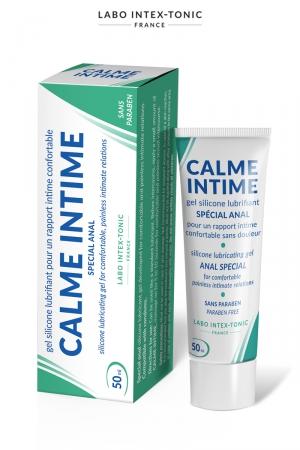 Lubrifiant anal Calme Intime (50 ml) : Lubrifiant spécial avec effet désensibilisant, pour les amateurs de plaisir anal, par Labo Intex-Tonic.