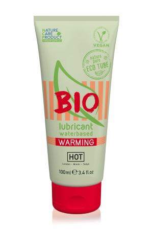 Lubrifiant HOT BIO Warming 100 ml  : Lubrifiant intime médical, biologique et végan, à base d'eau, avec effet chauffant, agissant contre la sècheresse vaginale.