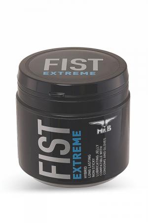 Lubrifiant Mister B FIST Extreme 500 ml : Mister B, spécialiste de l'extrême, présente son pot de crème lubrifiante hybride dédié au Fist EXTREME!