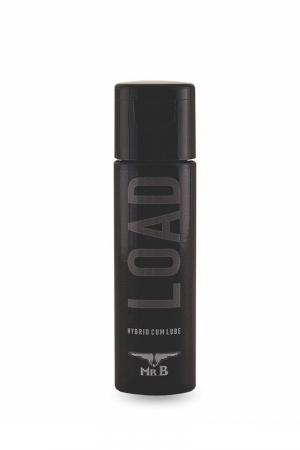 Lubrifiant Mister B LOAD 30 ml : Lubrifiant hybride médical très glissant ressemblant à du sperme, en petit flacon de 30 ml, par Mister B.