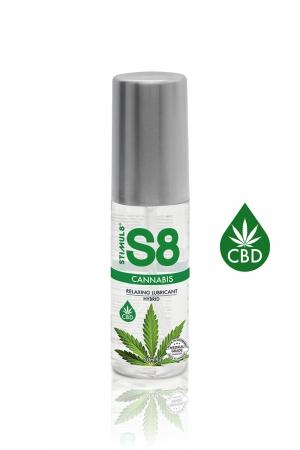 Lubrifiant S8 Hybride Cannabis 50ml : Lubrifiant Premium infusé au CBD), relaxant, ultra glissant, doux et soyeux et compatible avec les préservatifs.