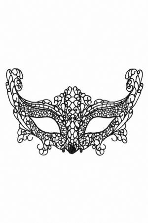 Loup dentelle guipure La Muette : Loup noir en dentelle guipure, pour vos soirées déguisées ou coquines, par Maskarade.