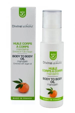 Huile massage  Corps à Corps : Huile de massage érotique 100% bio, fabriquée en France par Divinextases.