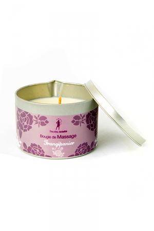 Bougie de massage Frangipanier : Bougie de massage parfum Frangipanier fabriquée en France pour des moments sensuels.