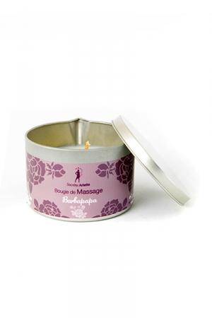 Bougie de massage Barbe à Papa : Bougie de massage parfum Barbe à Papa fabriquée en France pour des moments sensuels.