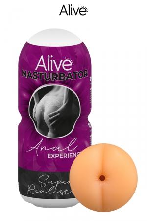 Masturbateur Anal - Alive : Masturbateur pour hommes super réaliste proposant une expérience de pénétration anale intense, marque Alive.