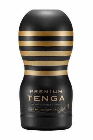 Masturbateur Premium Original Vacuum Cup Strong - Tenga : Ressentez une fellation plus Hard avec la nouvelle version Premium Strong du masturbateur spécial gorge profonde.