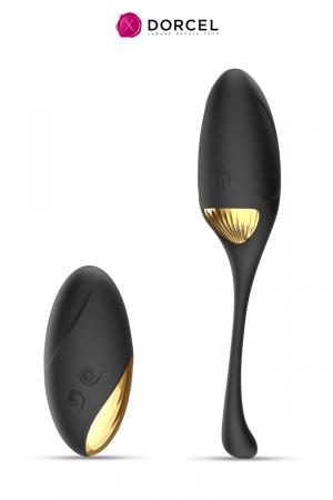 Sextoy 2 en 1 Secret Orgasm - Dorcel : 2 sextoys en 1 avec 1 œuf télécommandé  pour le vagin et 1 galet de massage vibrant pour le clitoris.