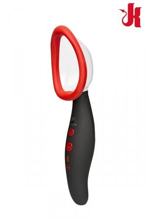 Pompe à vagin rechargeable Pumped - Kink : Pompe à vagin automatique rechargeable, vibrante et aspirante pour de sublimes sensations sur le clitoris et le vagin.