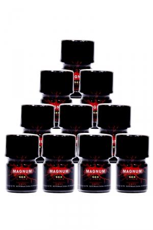 Pack de 10 Poppers Sexline Magnum Rouge : Le pack de 10 Poppers à l'Amyle Magnum rouge (avec grande ouverture pour plus de sensations) de la marque Sexline.