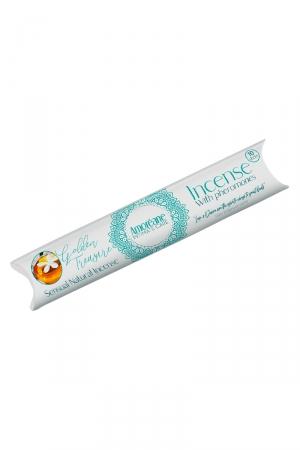 Encens aux pheromones Golden treasure - Amoreane : Coffret de bâtons d'encens senteur de jasmin musqué fabriqué en Espagne par Amoreane.