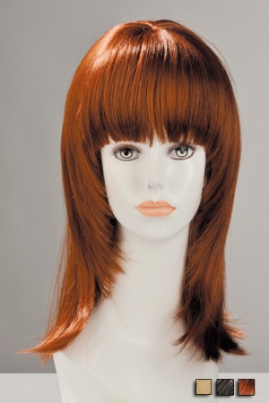Perruque Salomé : Perruque aspect cheveux naturels, à la coupe effilée volumineuse très féminine.