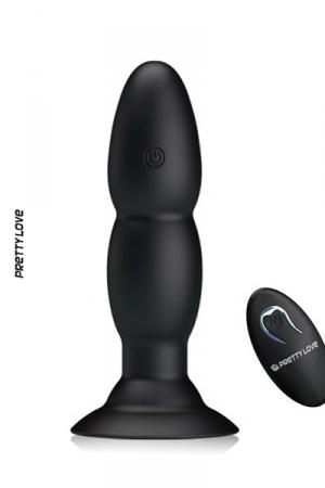 Plug anal Pretty Love Beaded : le top du sextoy anal: un plug anal vibrant télécommandé avec ventouse de maintien à sa base.
