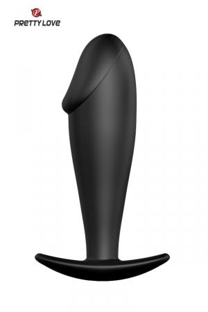 Stimulateur anal 10 cm : Petit plug anal 100% silicone en forme de pénis, par Pretty Love.
