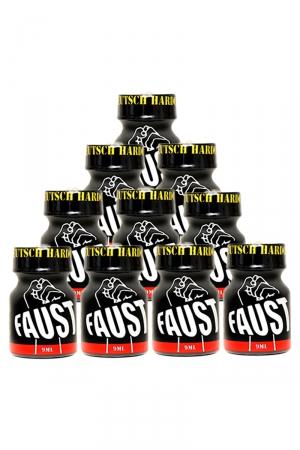 Pack 10 poppers Faust 9 ml : Pack de 10 Flacons de 9 ml de Poppers Faust, arôme liquide érotique à base de Nitrite de Pentyle.